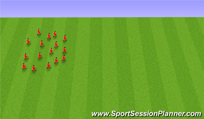 Football/Soccer Session Plan Drill (Colour): 6. Endurheimt