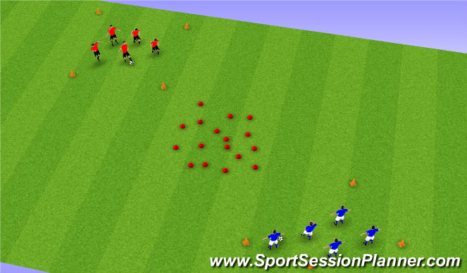Football/Soccer Session Plan Drill (Colour): Pass & Find (Nemo)