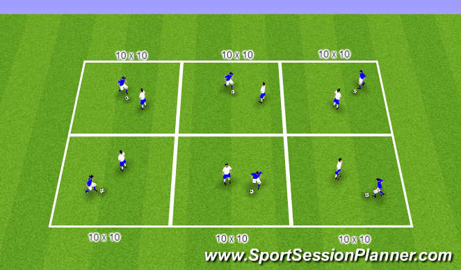 Football/Soccer Session Plan Drill (Colour): Leg Goals