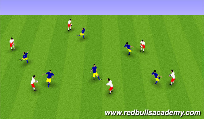Football/Soccer Session Plan Drill (Colour): Juggling Warm Up