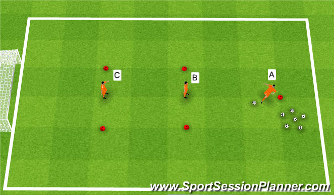 Football/Soccer Session Plan Drill (Colour): One Touch Triangle