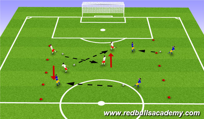 Football/Soccer Session Plan Drill (Colour): Passing WU
