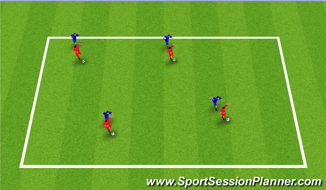 Football/Soccer Session Plan Drill (Colour): Shielding Technical Practice