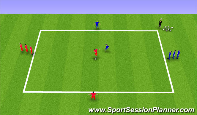 Football/Soccer Session Plan Drill (Colour): Shielding Numbers Game