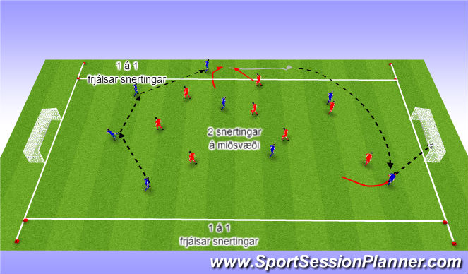 Football/Soccer Session Plan Drill (Colour): 4. Skilyrtur leikur