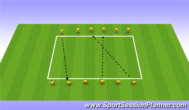 Football/Soccer Session Plan Drill (Colour): Technical Intro