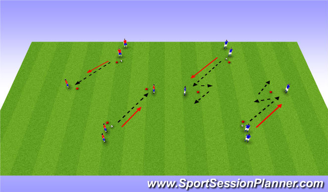 Football/Soccer Session Plan Drill (Colour): Arrival Activity & FIFA 11+