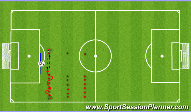 Football/Soccer Session Plan Drill (Colour): S&A with touches