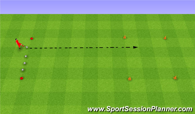 Football/Soccer Session Plan Drill (Colour): Weight of pass. Odpowiedni ciężar podania.