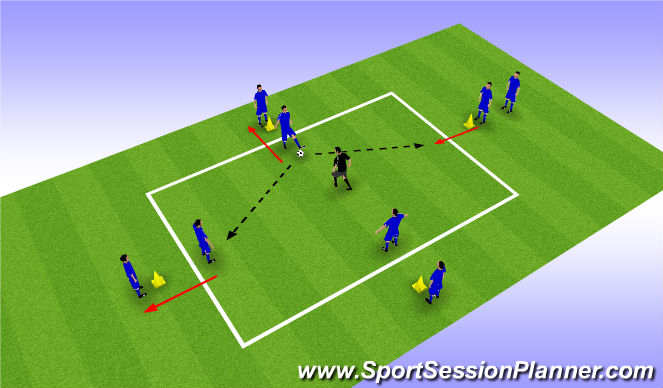 Football/Soccer Session Plan Drill (Colour): Valencia Rondo