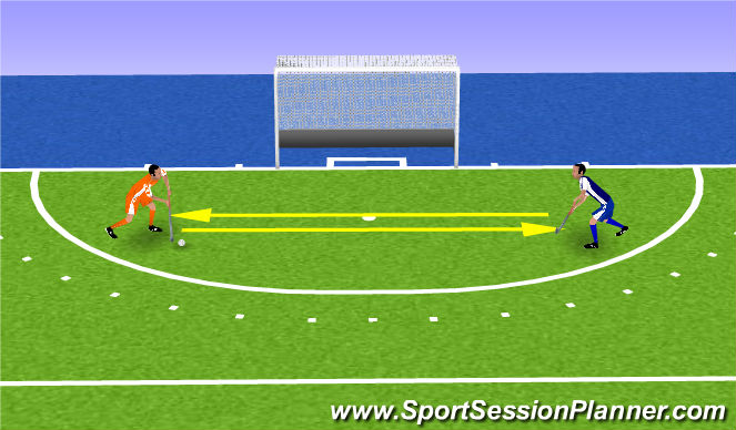 Hockey Session Plan Drill (Colour): silent pushing