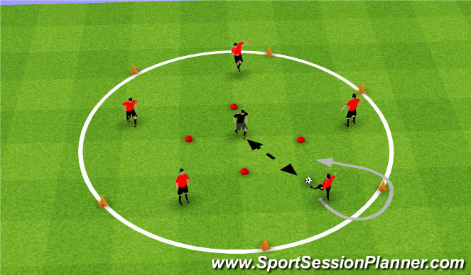 Football/Soccer Session Plan Drill (Colour): Bring the Bear some Honey!