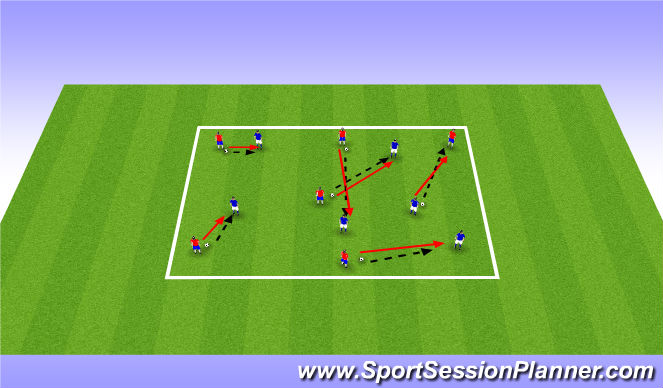 Football/Soccer Session Plan Drill (Colour): Individual Pressing
