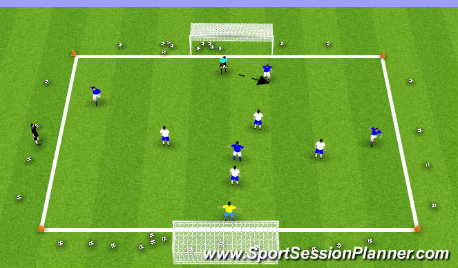 Football/Soccer Session Plan Drill (Colour): GK