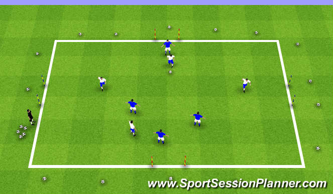 Football/Soccer Session Plan Drill (Colour): Crossroads