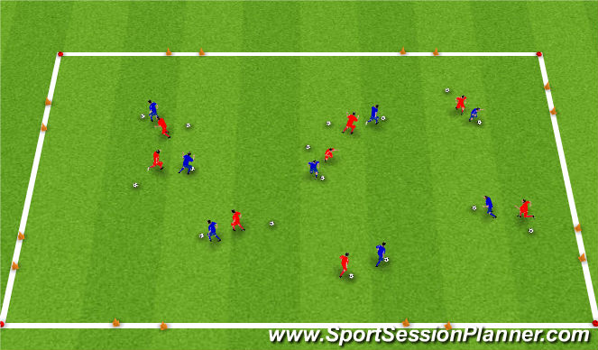 Football/Soccer Session Plan Drill (Colour): 1. Upphitun