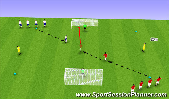 Football/Soccer Session Plan Drill (Colour): Main Part