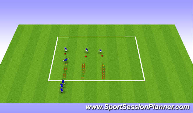 Football/Soccer Session Plan Drill (Colour): fast feet ladders
