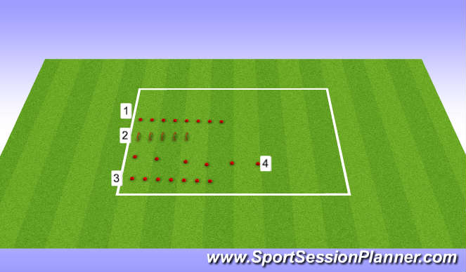 Football/Soccer Session Plan Drill (Colour): plyos