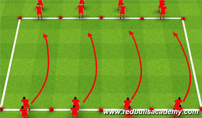 Football/Soccer Session Plan Drill (Colour): Without the Ball