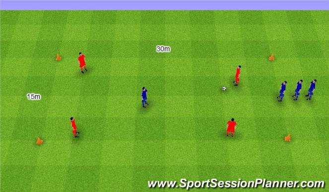 Football/Soccer Session Plan Drill (Colour): Rondo interval game. Dziadek interwały