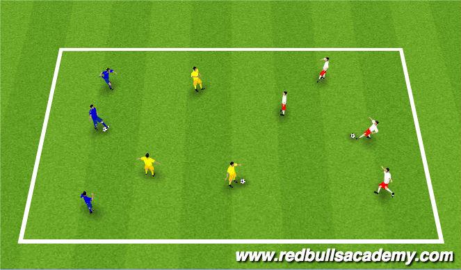 Football/Soccer Session Plan Drill (Colour): Tri-Colour