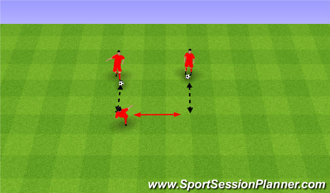 Football/Soccer Session Plan Drill (Colour): Quick feet and passing.