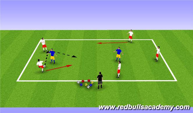 Football/Soccer Session Plan Drill (Colour): 5 v 2/3 keep away