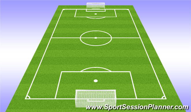 Football/Soccer Session Plan Drill (Colour): 6v6
