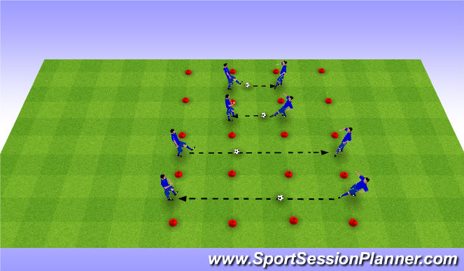 Football/Soccer Session Plan Drill (Colour): One Touch Passing