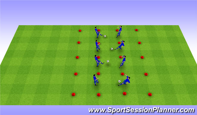 Football/Soccer Session Plan Drill (Colour): One Touch Control