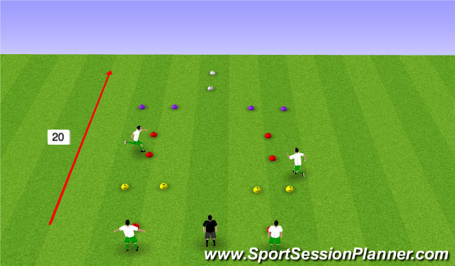 Football/Soccer Session Plan Drill (Colour): Speed Coerver