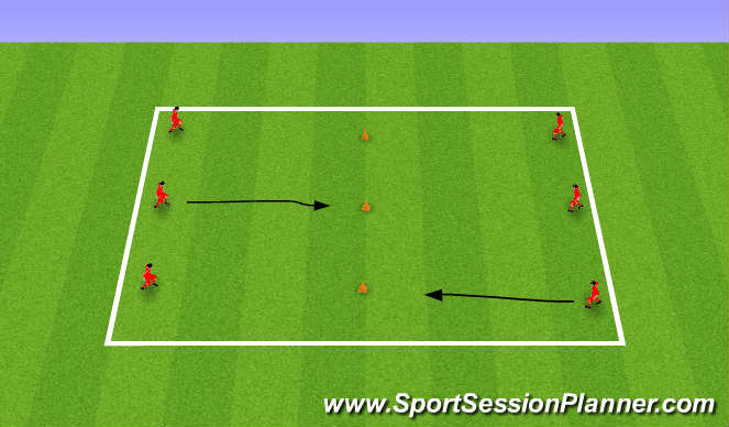 Football/Soccer Session Plan Drill (Colour): Dribbling & Turning