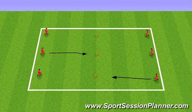 Football/Soccer Session Plan Drill (Colour): Dribbling & Turning