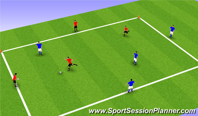 Football/Soccer Session Plan Drill (Colour): Keep Ball Square
