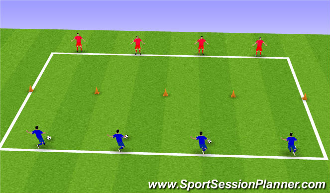 Football/Soccer Session Plan Drill (Colour): Technical Shooting Practice