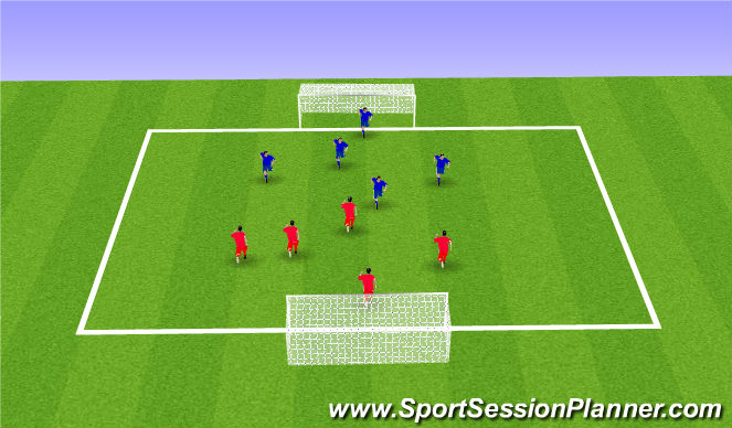 Football/Soccer Session Plan Drill (Colour): Shooting Scrimmage