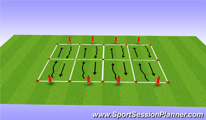 Football/Soccer Session Plan Drill (Colour): Ball Manipulation & Control