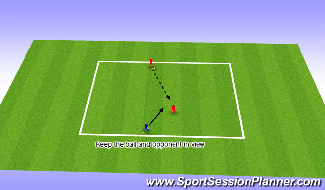Football/Soccer Session Plan Drill (Colour): Intercepting