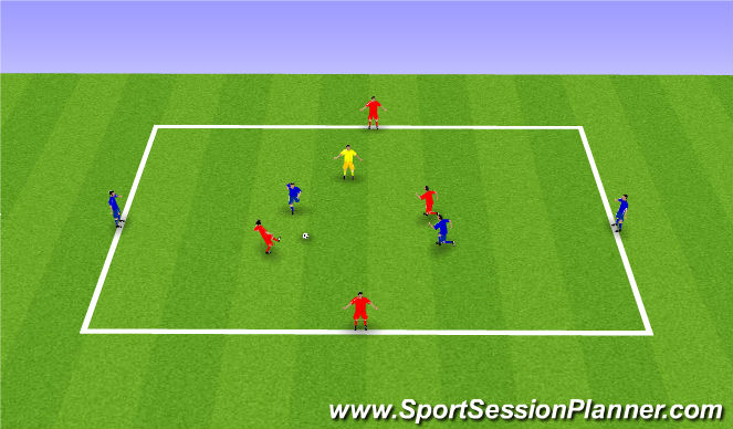 Football/Soccer Session Plan Drill (Colour): HMFC Passing