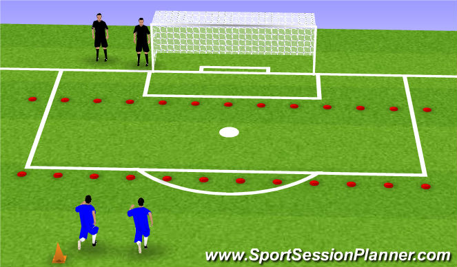 Football/Soccer Session Plan Drill (Colour): blocking
