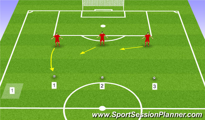 Football/Soccer Session Plan Drill (Colour): Back 3 Shadow Play