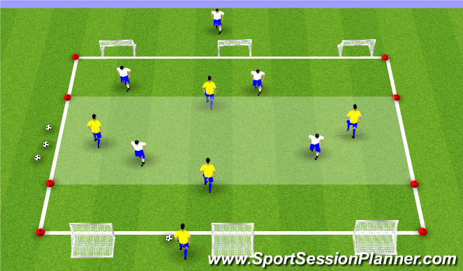 Football/Soccer Session Plan Drill (Colour): SSG-1