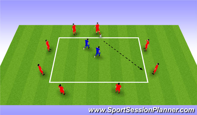 Football/Soccer Session Plan Drill (Colour): Possession Square