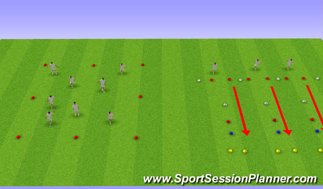 Football/Soccer Session Plan Drill (Colour): strength speed
