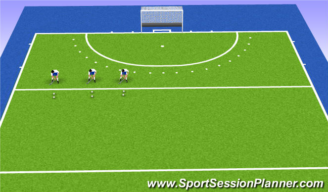 Hockey Session Plan Drill (Colour): W-UP