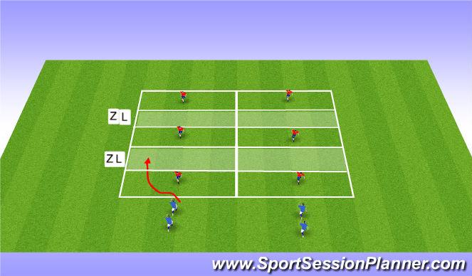Football/Soccer Session Plan Drill (Colour): Calentamiento