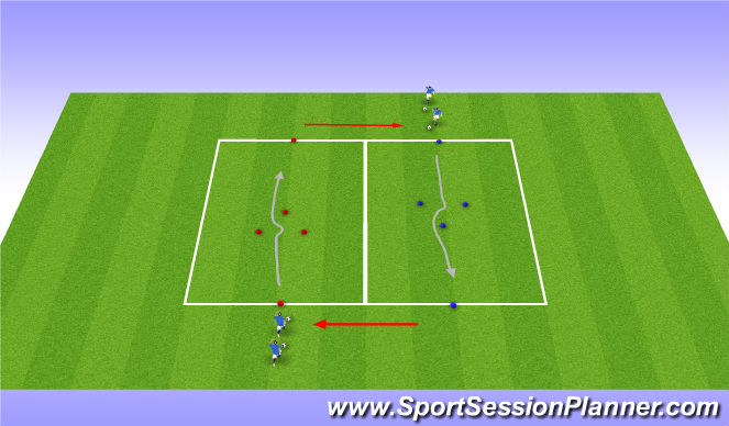 Football/Soccer Session Plan Drill (Colour): Parte Principal