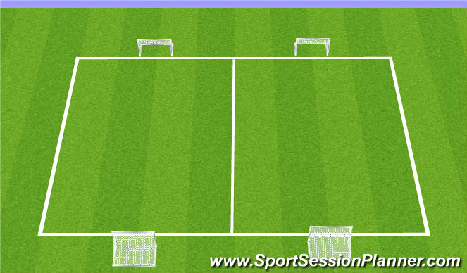 Football/Soccer Session Plan Drill (Colour): Arrival 3v3