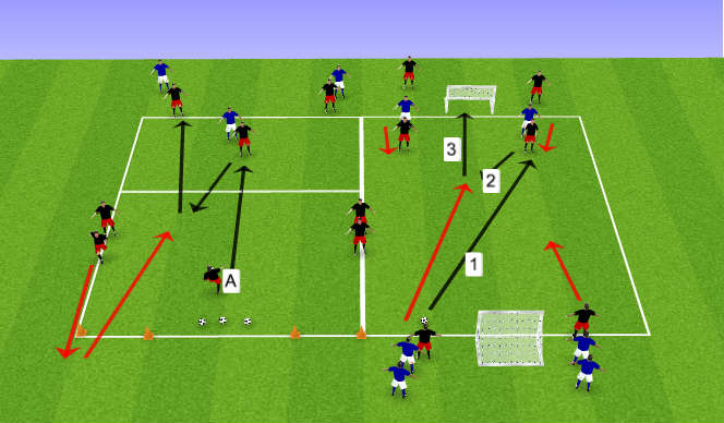 Football/Soccer Session Plan Drill (Colour): Holding up the ball